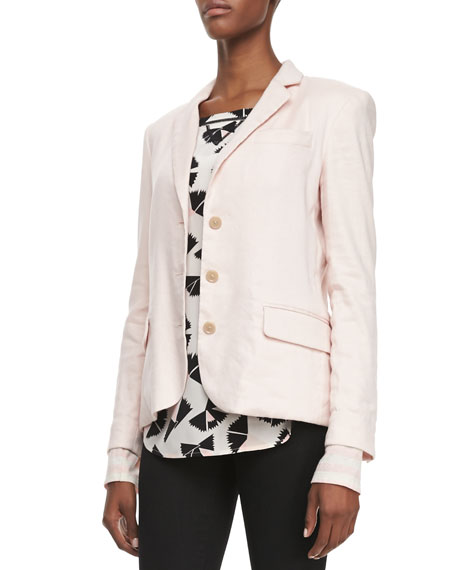 Stretch Cotton/Linen Blazer