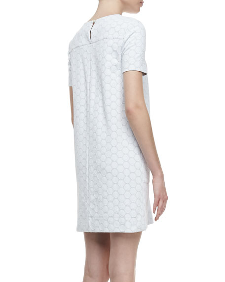 Leyna Dotte Ponte Dress, White