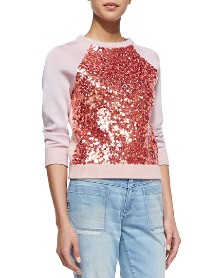 Gretta Sequin-Front Sweater