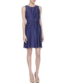 Paule Ka Sleeveless Twisted-Front Dress