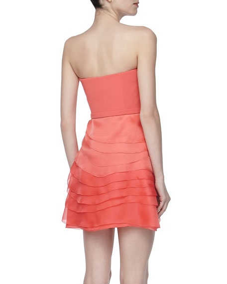 Strapless Tiered Organza Dress