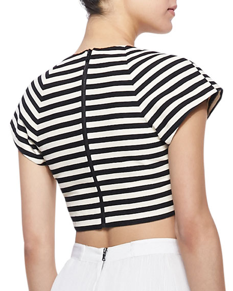 Connely Striped Crop Top