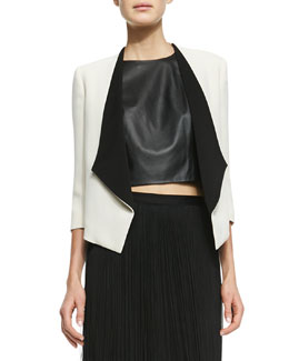 Alice + Olivia Oliver Two-Tone Open Blazer