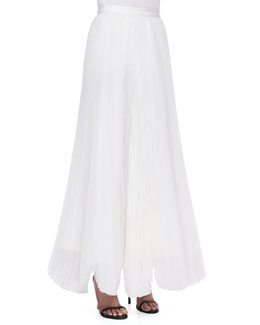 Alice + Olivia Bethie Long Pleated Maxi Skirt