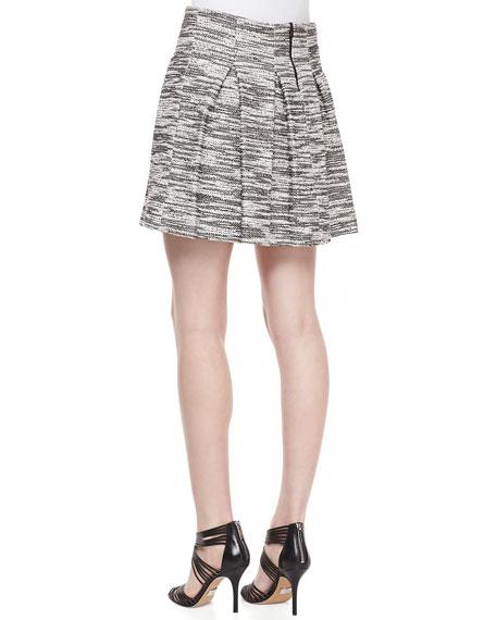 Davis Pleated Tweed Skirt