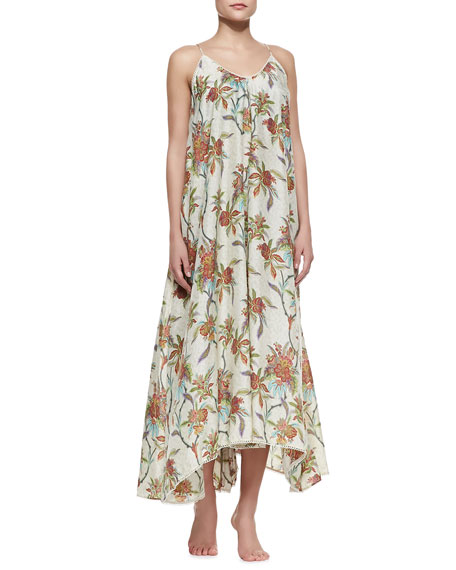 Keeper Scarf-Hem Maxi Coverup Dress