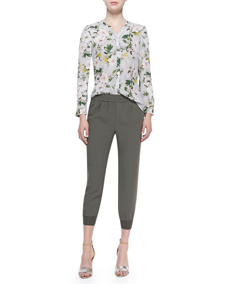 Mariner Cropped Pull-On Pants, Fatigue