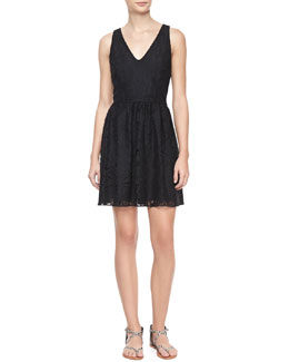 Joie Phelia Sleeveless Lace Dress