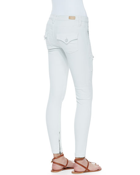 So Real Cargo-Pocket Skinny Jeans, Fog