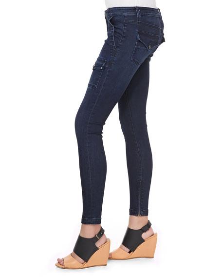 So Real Cargo-Pocket Skinny Jeans, River