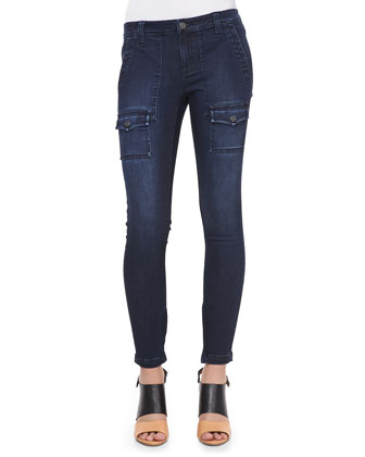 So Real Cargo-Pocket Skinny Jeans, River