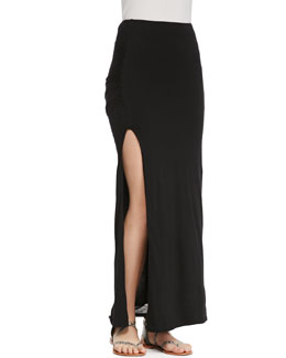Soft Joie Dacie Side-Slit Jersey Maxi Skirt