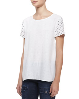Soft Joie Hanneli Perforated Short-Sleeve Top