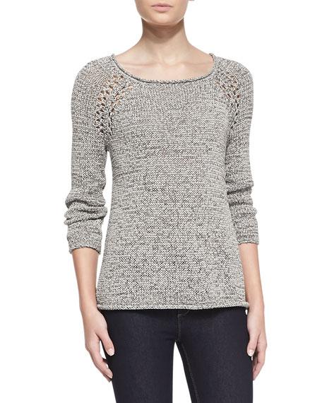 Duran Open-Knit-Shoulder Sweater
