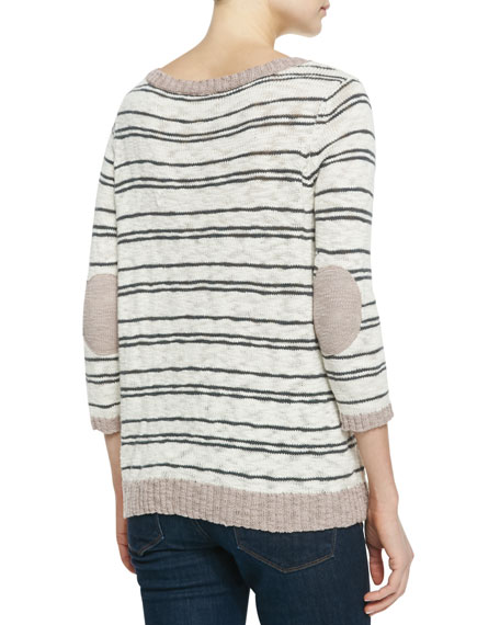 Liivia Striped Knit Sweater