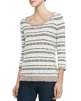 Soft Joie Liivia Striped Knit Sweater