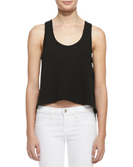 Soft Joie Pine Linen/Cotton Crop Top