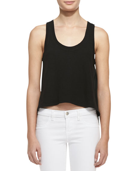 Pine Linen/Cotton Crop Top