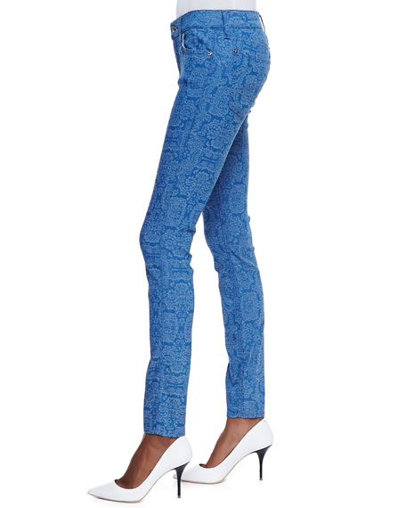 The Skinny Jeans, Moroccan Blue Jacquard