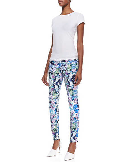 The Skinny Kaleidoscope Floral Jeans