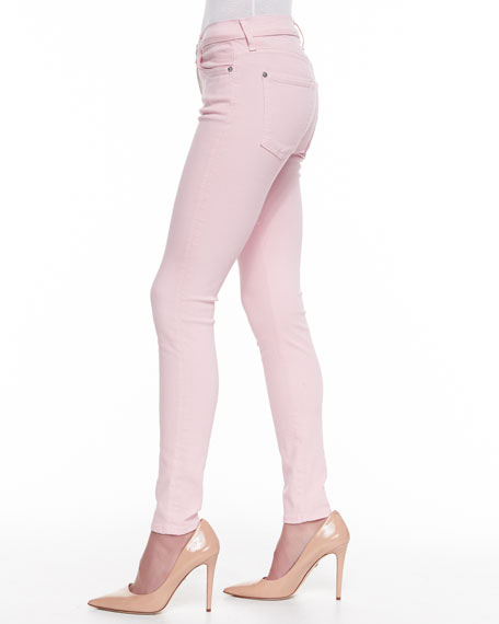 The Ankle Skinny Jeans, Blush Pink