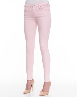 7 For All Mankind The Ankle Skinny Jeans, Blush Pink