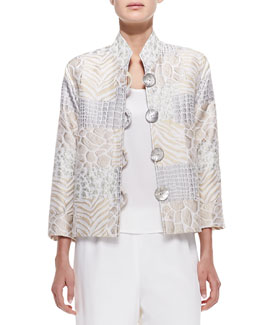 Caroline Rose Soft Focus Jacquard Jacket