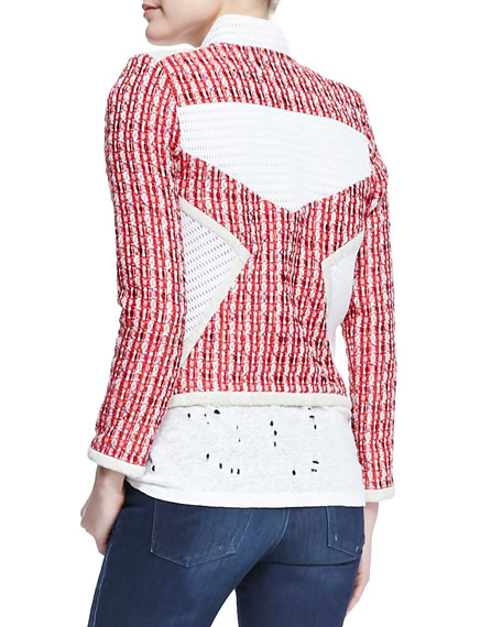 Aubrey Netted Tweed Jacket