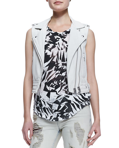 Suga Cropped Leather Vest