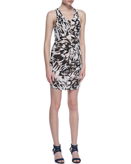 Donovan Printed Slub Dress