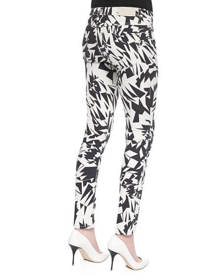 Blake Geo-Print Denim Pants