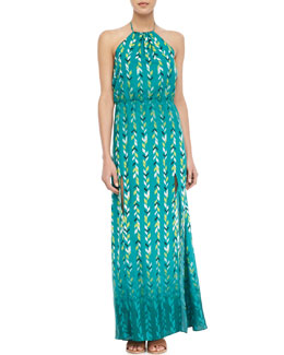 Lovers + Friends Chevron-Print Halter Maxi Dress
