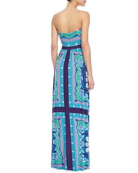 I Love You Printed Maxi Dress