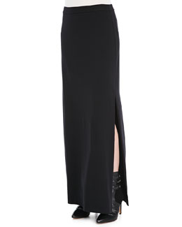 Splendid Side-Slit Maxi Skirt