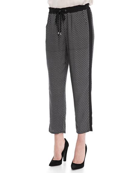 Harbor Geometric-Print Pants