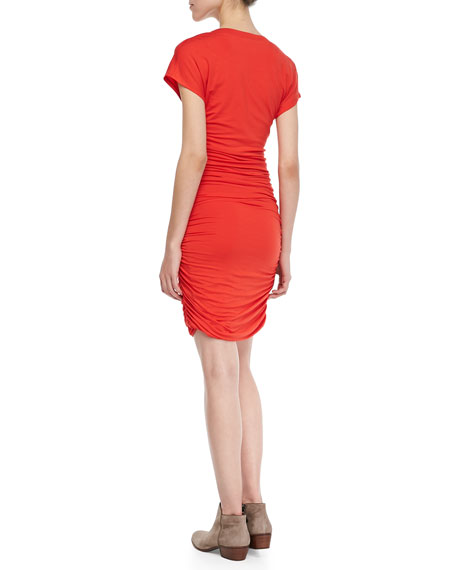 Fiesta Ruched V-Neck Dress