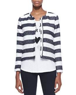 Splendid Monterey Boxy Striped Jacket