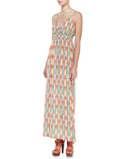 Cusp by Neiman Marcus Soft Printed Maxi Dress