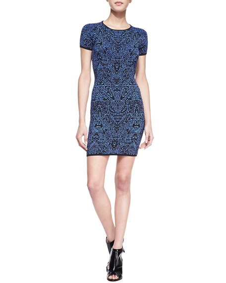 Iman Printed Short-Sleeve Dress