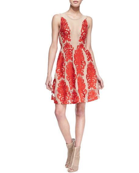 Lulu Lace-Patterned Dress