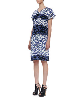 10 Crosby Derek Lam Crisscross-Back Cap-Sleeve Dress