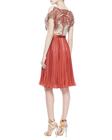 Pippa Chiffon Pleated Dress