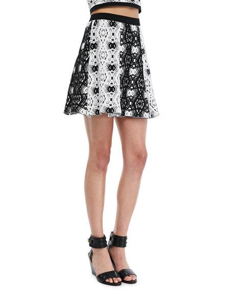 Kahlen Printed Flare Skirt