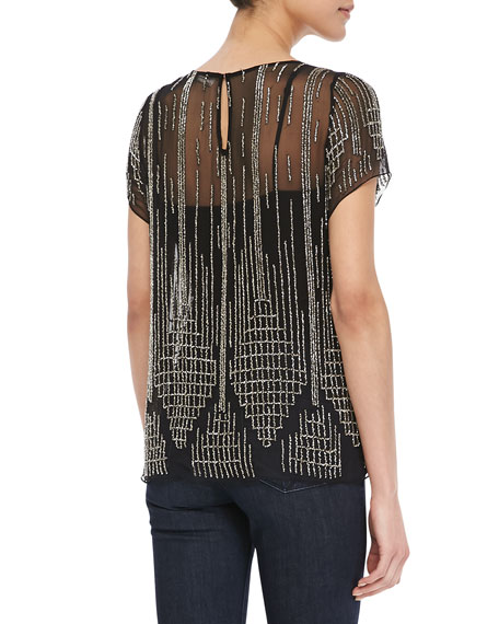 Nomad Beaded Chiffon Top