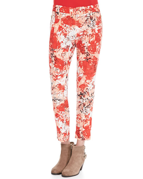 Maxine Tapestry Cropped Pants