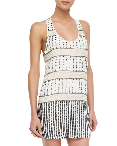 Hardy Beaded Strappy-Back Dress