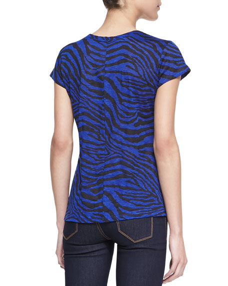 Betty Zebra-Print Tee