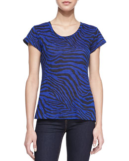 Generation Love Betty Zebra-Print Tee