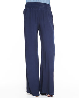 Splendid Smock-Waist Pull-On Pants