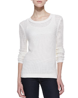 Splendid La Jolla Mesh Knit Sweater